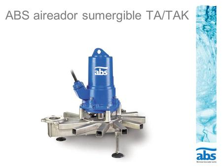 ABS aireador sumergible TA/TAK