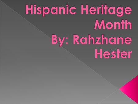  Hispanic Heritage Month begins on September 15 to October 15. Hispanic Heritage Month celebrates the history, culture, and contributions of American.