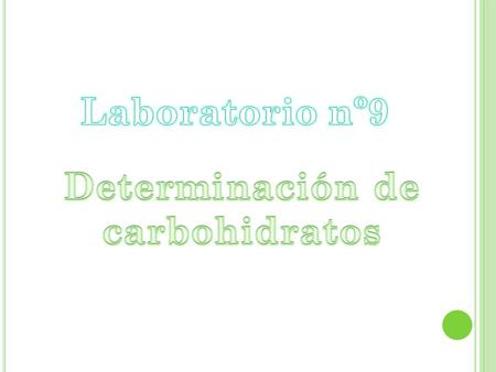 Determinación de carbohidratos
