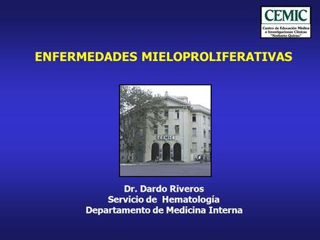 Sindrome mieloproliferativo