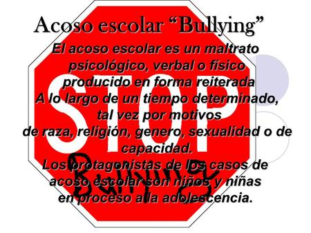"Acoso escolar ""Bullying"""