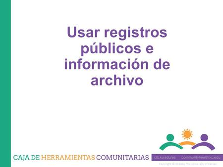 Copyright © 2014 by The University of Kansas Usar registros públicos e información de archivo.