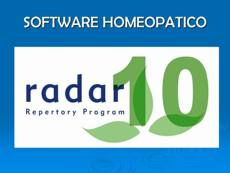 SOFTWARE HOMEOPATICO.