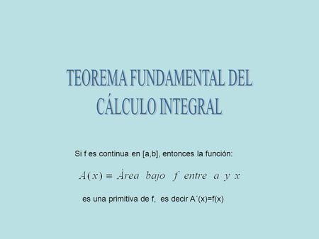 TEOREMA FUNDAMENTAL DEL
