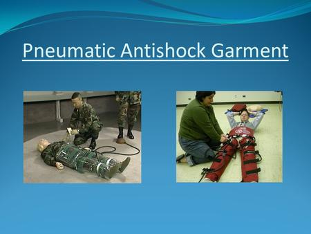 Pneumatic Antishock Garment