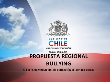 PROPUESTA REGIONAL BULLYING