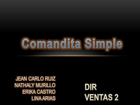Comandita Simple DIR VENTAS 2