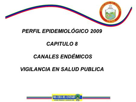 PERFIL EPIDEMIOLÓGICO 2009 CAPITULO 8 CANALES ENDÉMICOS