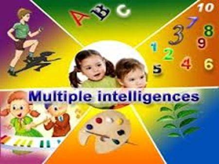 Multiple intelligences spatial intelligence involves the potential to recognize and use the patterns of wide space and more confined areas.
