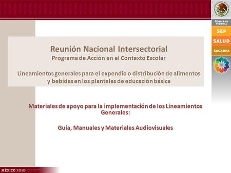 Guía, Manuales y Materiales Audiovisuales