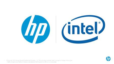 © Copyright 2013 Hewlett-Packard Development Company, L.P. The information contained herein is subject to change without notice. 1 Intel® y el logotipo.