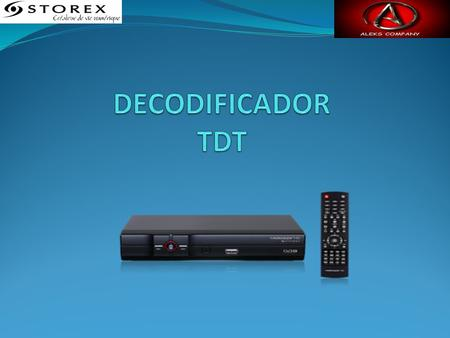 DECODIFICADOR TDT.
