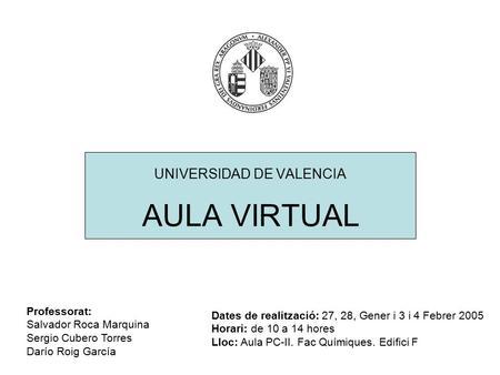 Curso aula virtual nivel avanzado universidad de valencia for Aula virtual fp valencia