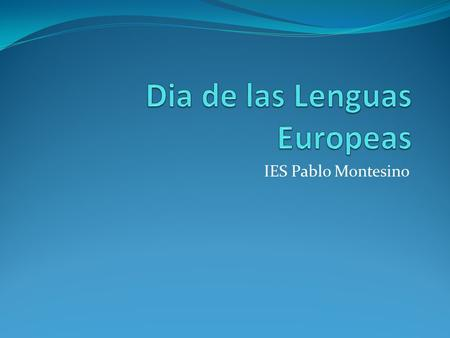 Dia de las Lenguas Europeas