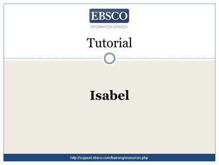 Tutorial Isabel