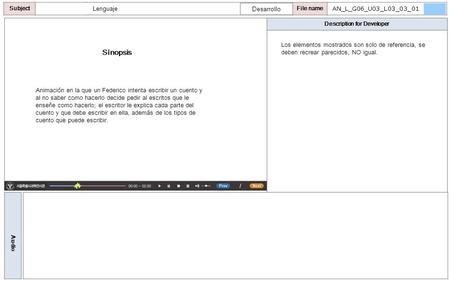 Description for Developer Audio SubjectLO File name Sinopsis Animación en la que un Federico intenta escribir un cuento y al no saber como hacerlo decide.
