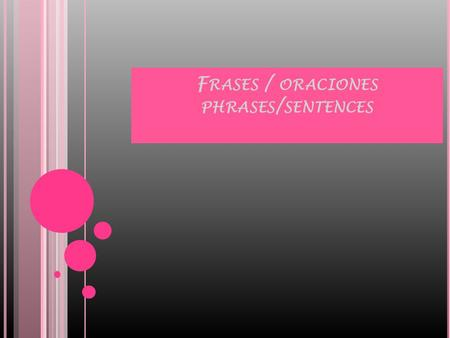 F RASES / ORACIONES PHRASES / SENTENCES. Noun phrase: consists of a noun and all of its modifiers, which can include other phrases(like prepositional)