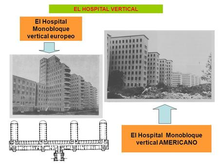 El Hospital Monobloque vertical europeo El Hospital Monobloque vertical AMERICANO EL HOSPITAL VERTICAL.