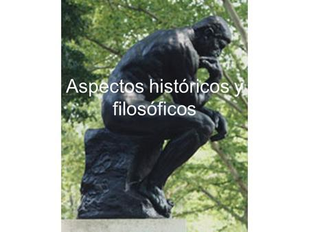 Aspectos históricos y filosóficos. Lectura para el jueves Belovsky et al. 2004. Ten suggestions to Strengthen the Science of Ecology.