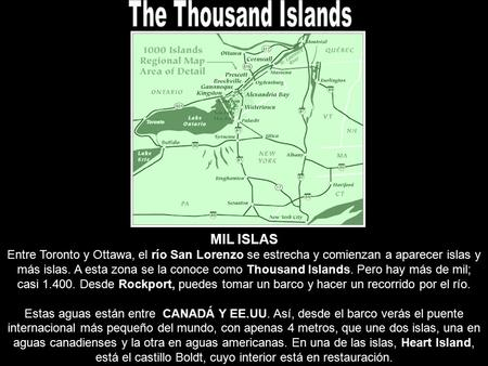 The Thousand Islands MIL ISLAS