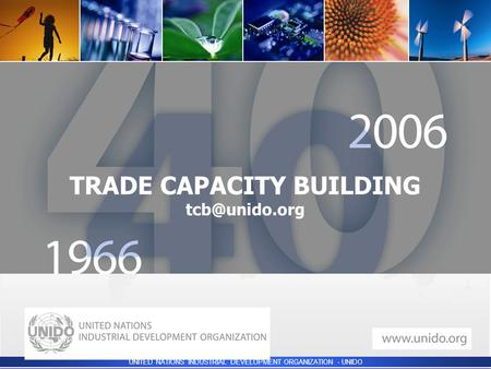 UNITED NATIONS INDUSTRIAL DEVELOPMENT ORGANIZATION - UNIDO  TRADE CAPACITY BUILDING