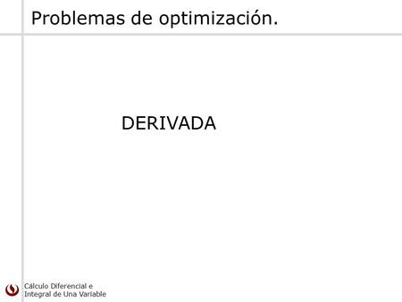 Problemas de optimización.