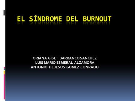El síndrome del burnout