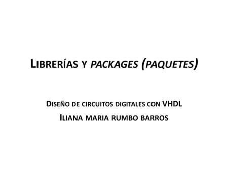 Librerías y packages (paquetes)