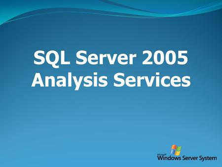 SQL Server 2005 Analysis Services.