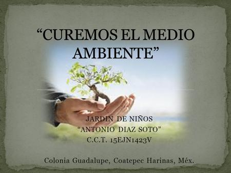 """CUREMOS EL MEDIO AMBIENTE"""