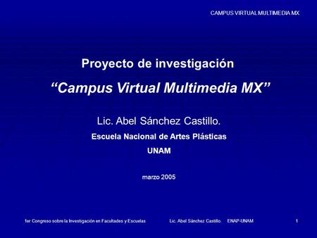 """Campus Virtual Multimedia MX"""