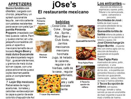 jOse's El restaurante mexicano
