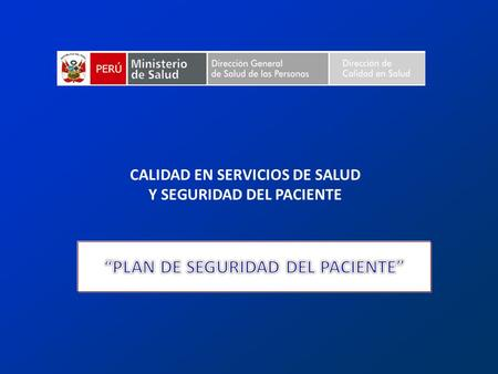 """PLAN DE SEGURIDAD DEL PACIENTE"""