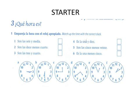 STARTER LEER (READING)- Read and complete the sentences.