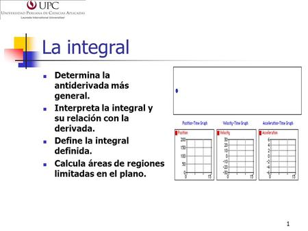 La integral Determina la antiderivada más general.