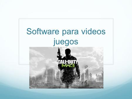 Software para videos juegos