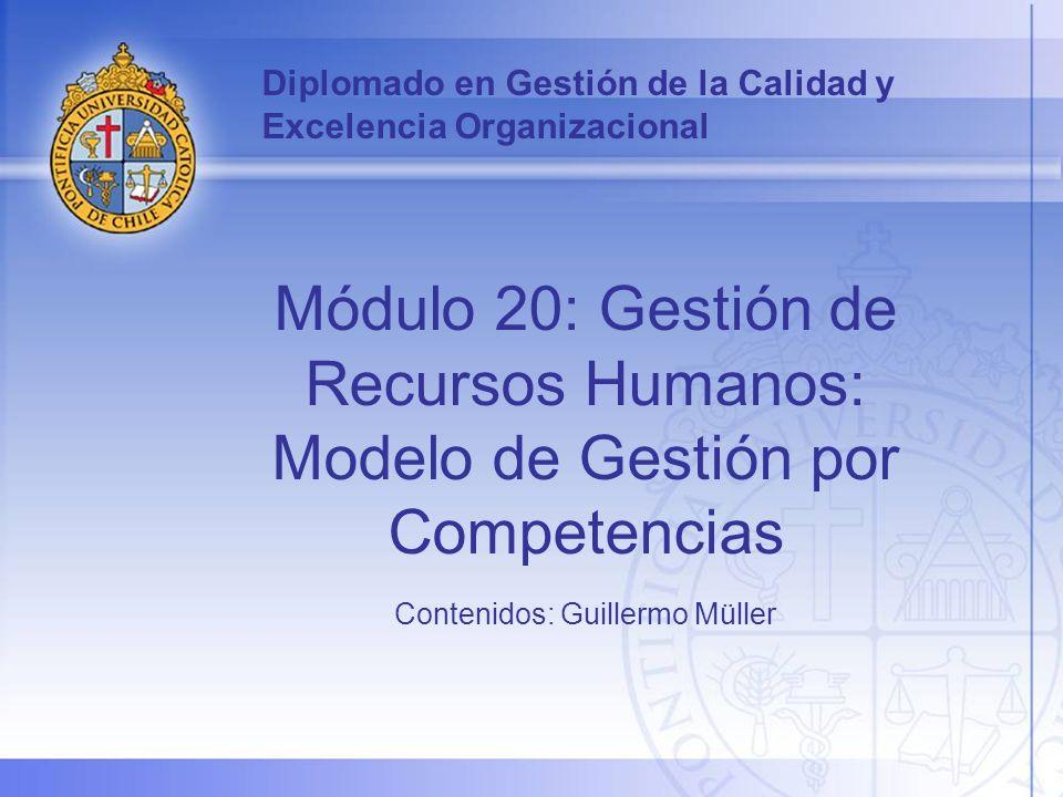 2 En este módulo se entregarán los principales conceptos y metodologías que se utilizan para implementar el enfoque de competencias en las organizaciones y cómo éste puede contribuir a mejorar la Gestión del Capital Humano, en un contexto de cultura orientada a la calidad y excelencia organizacional.
