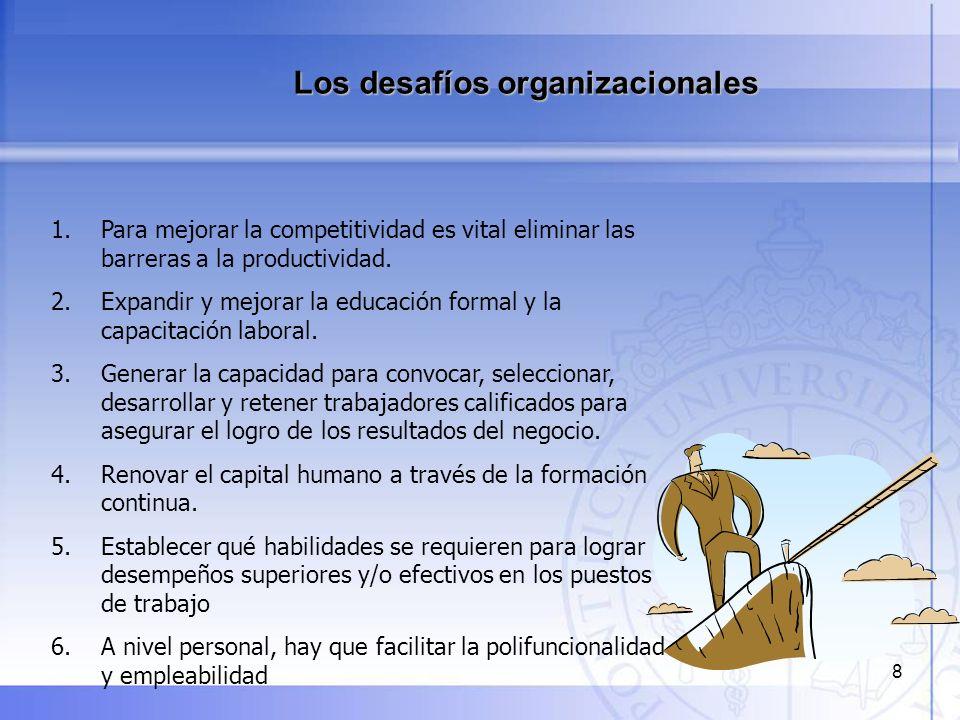 9 El principal desafío de cualquier organización es alinear sus procesos y sistemas de gestión de personas con su estrategia de negocio, su misión, objetivos y cultura.
