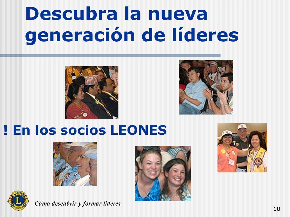 Cómo descubrir y formar líderes LIDERAZGO El Liderazgo tiene valores Éticos muy ALTOS El Liderazgo es INSTRUCCIÓN LEONISTICA La instrucción Leonistica es RETENCION