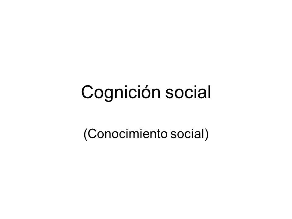 2 modos de abordar el estudio de la cognición social Serge Moscovici: Lo que diferencia lo social de lo no-social no es la naturaleza de objeto, sino la relación que se establece con tal objeto.