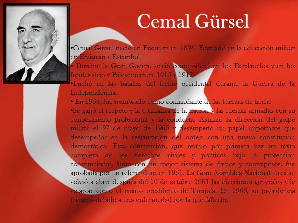 Cevdet Sunay 5to presidente de la república de Turquía.