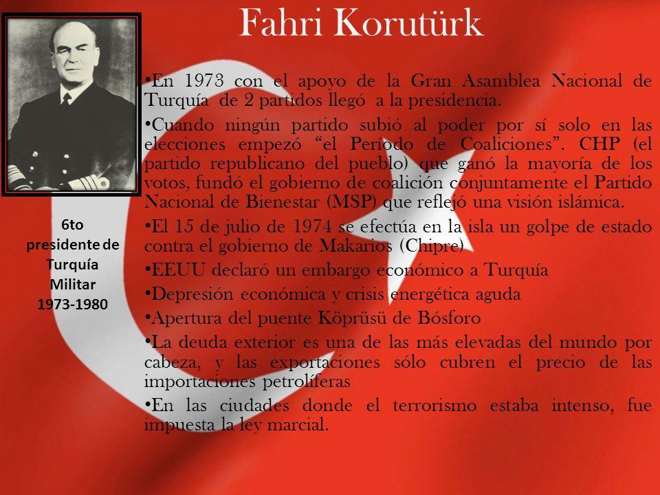 Kenan Evren Fue el último presidente militar de Turquía.