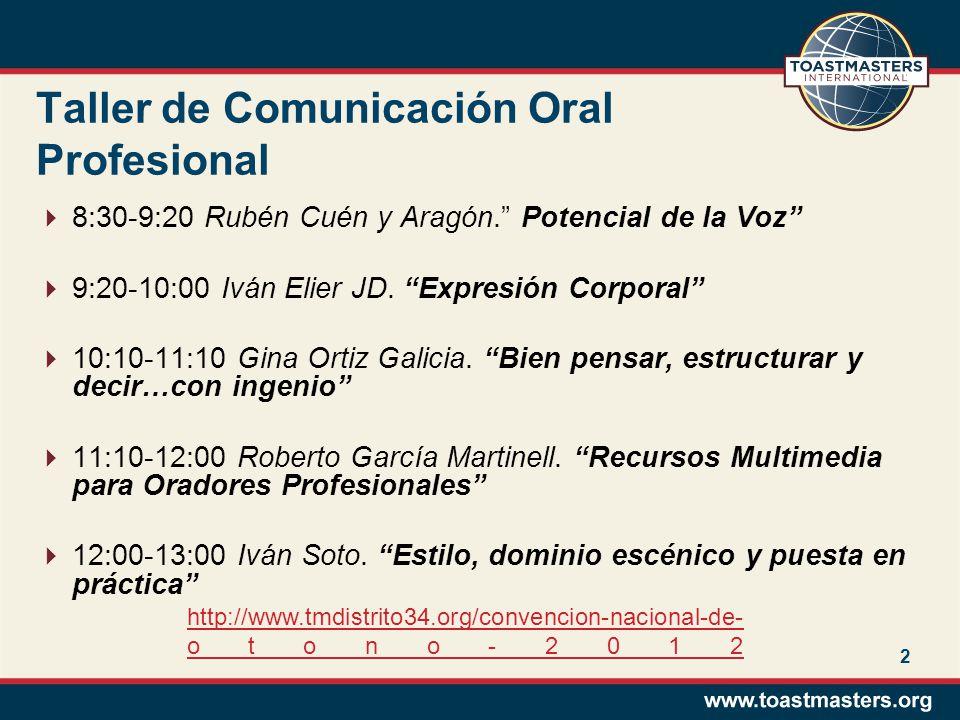 3 Taller de Comunicación Oral Profesional.