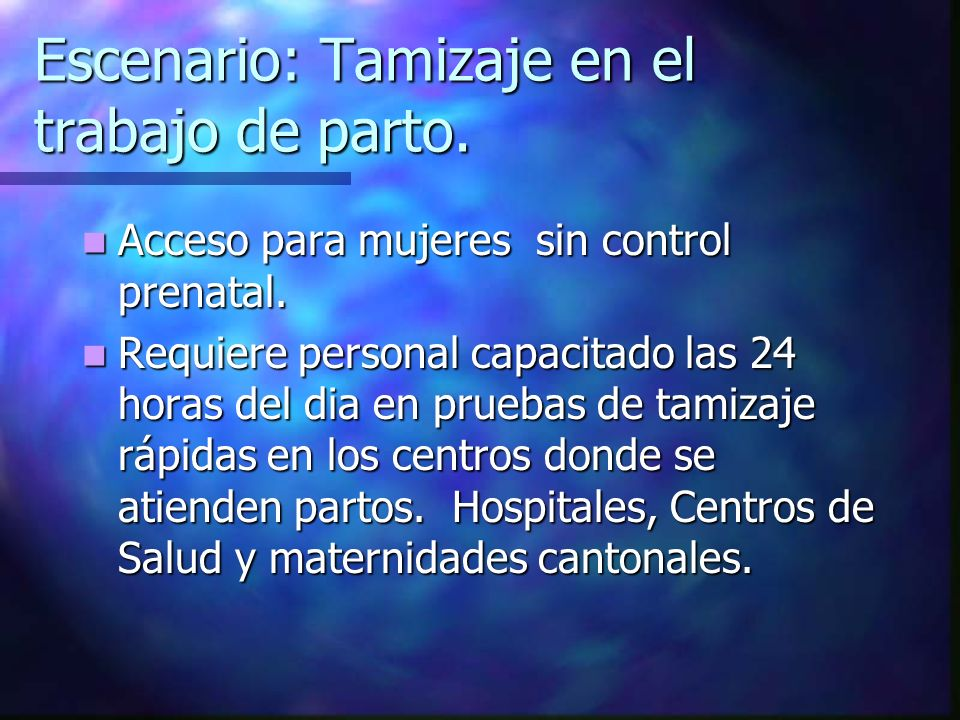 Evaluación Inicial Situación Inmunológica (CD4) Situación Inmunológica (CD4) Riesgo de progresión (CV) Riesgo de progresión (CV) Serologías sífilis, HBV, HCV Serologías sífilis, HBV, HCV Hx de ARV Hx de ARV Edad gestacional Edad gestacional Necesidades de soporte: Social, psiquiatrico,etc.