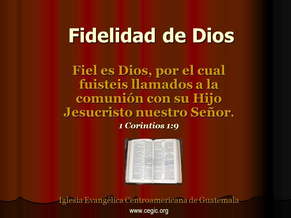 Fidelidad de Dios Las misericordias de Jehová cantaré perpetuamente; de generación en generación haré notoria tu fidelidad con mi boca.