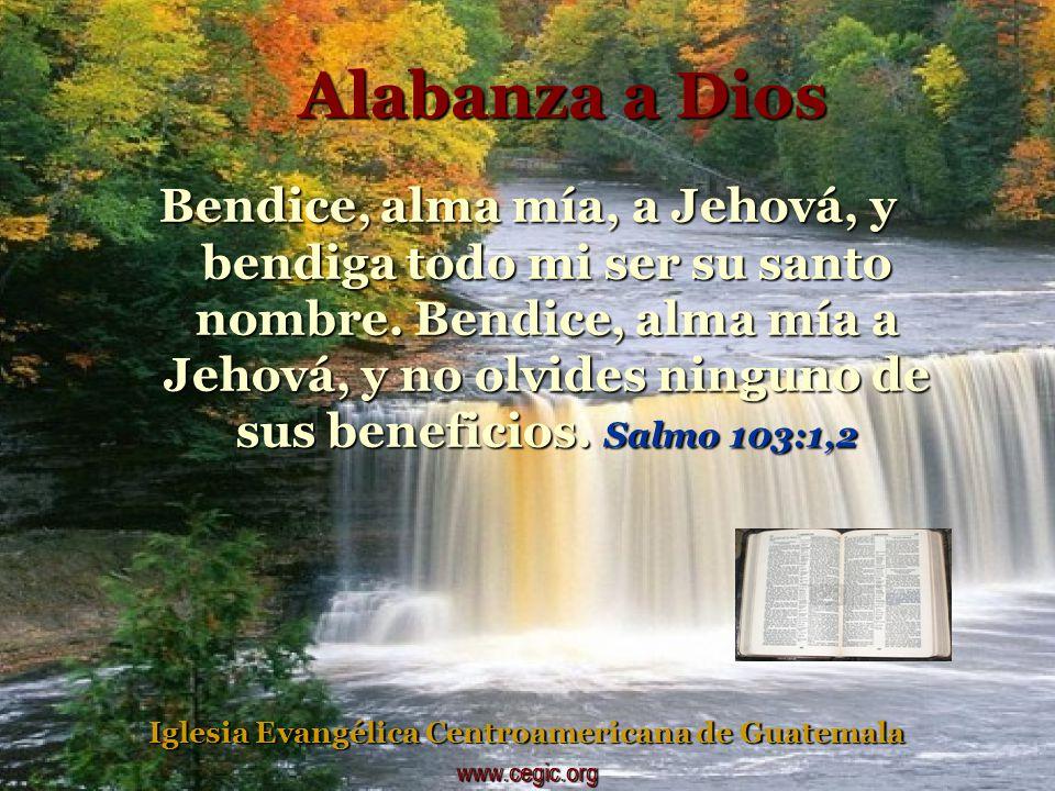 Bendice, alma mía, a Jehová.