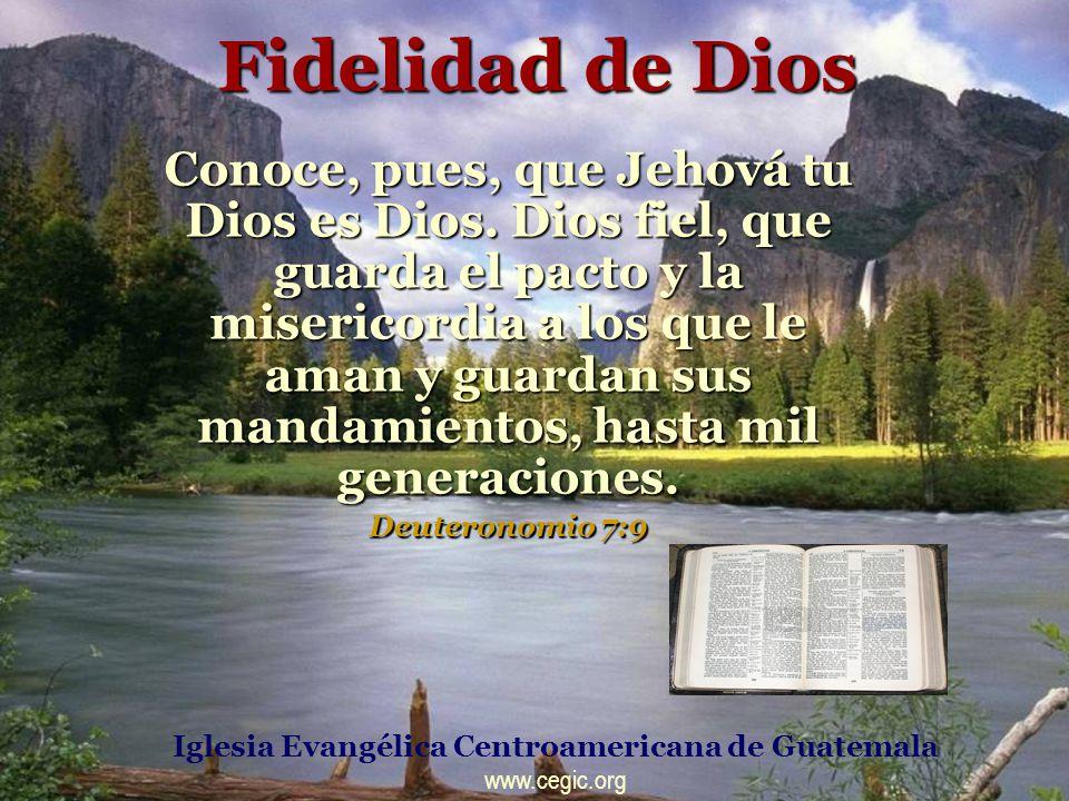 FIDELIDAD DE DIOS Porque contigo está el manantial de la vida; en tu luz veremos la luz.