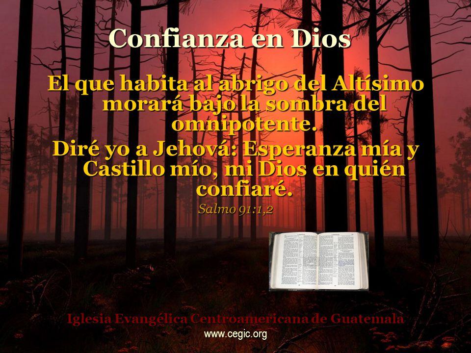 Confianza en Dios ¡Cuan grande es tu bondad, que has guardado para los que te temen, que has mostrado a los que esperan en ti, delante de los hijos de los hombres.