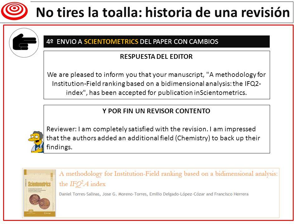 Remisión separatas a especialistas en el tema para que lo lean y lo citen, si es el caso El trabajo no termina con la publicación