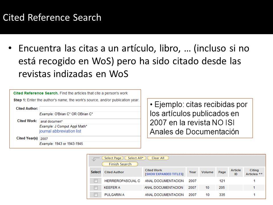 Thomson cuenta con un listado maestro (master list) donde aparecen las revistas recogidas en sus índices de citas http://science.thomsonreuters.com/mjl/http://science.thomsonreuters.com/mjl/ ¡Ojo.